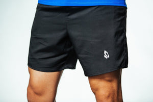 Jet Black High-Performance Shorts