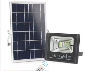 Heavy Duty Solar Led Outdoor Flood Light Street Lamp 10W IP67 Waterproof With Remote JD-8810