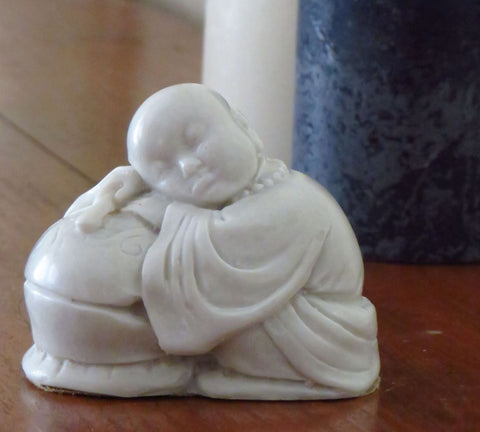 Tibetan Buddha in cold cast marble