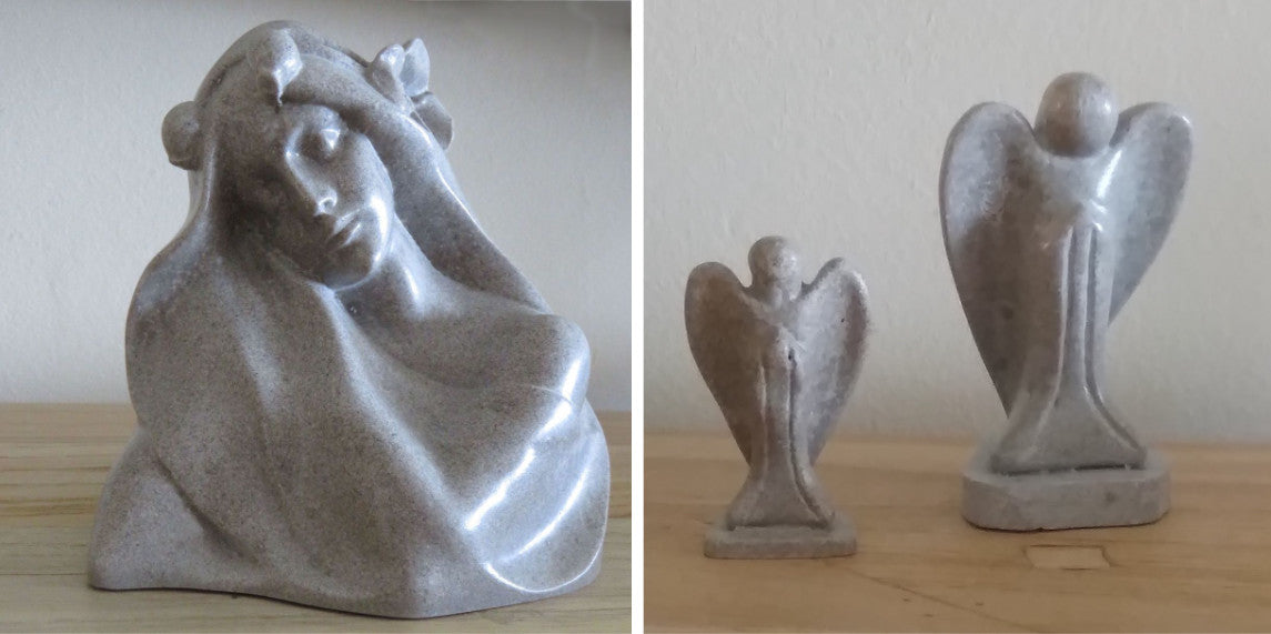 Memorial figurines from cremated ashes