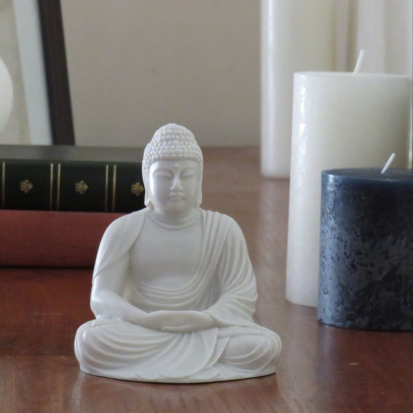 Classic Buddha in Cold cast Powdered marble