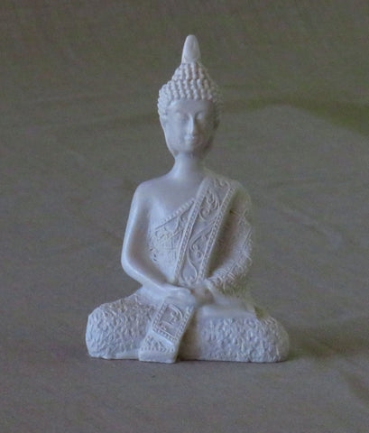 Medium Thai style  Meditation Buddha. Reconstituted Marble.