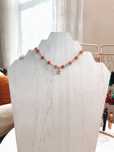 Regular-Plated Beaded + Charmed Necklace - Talay Jewelry