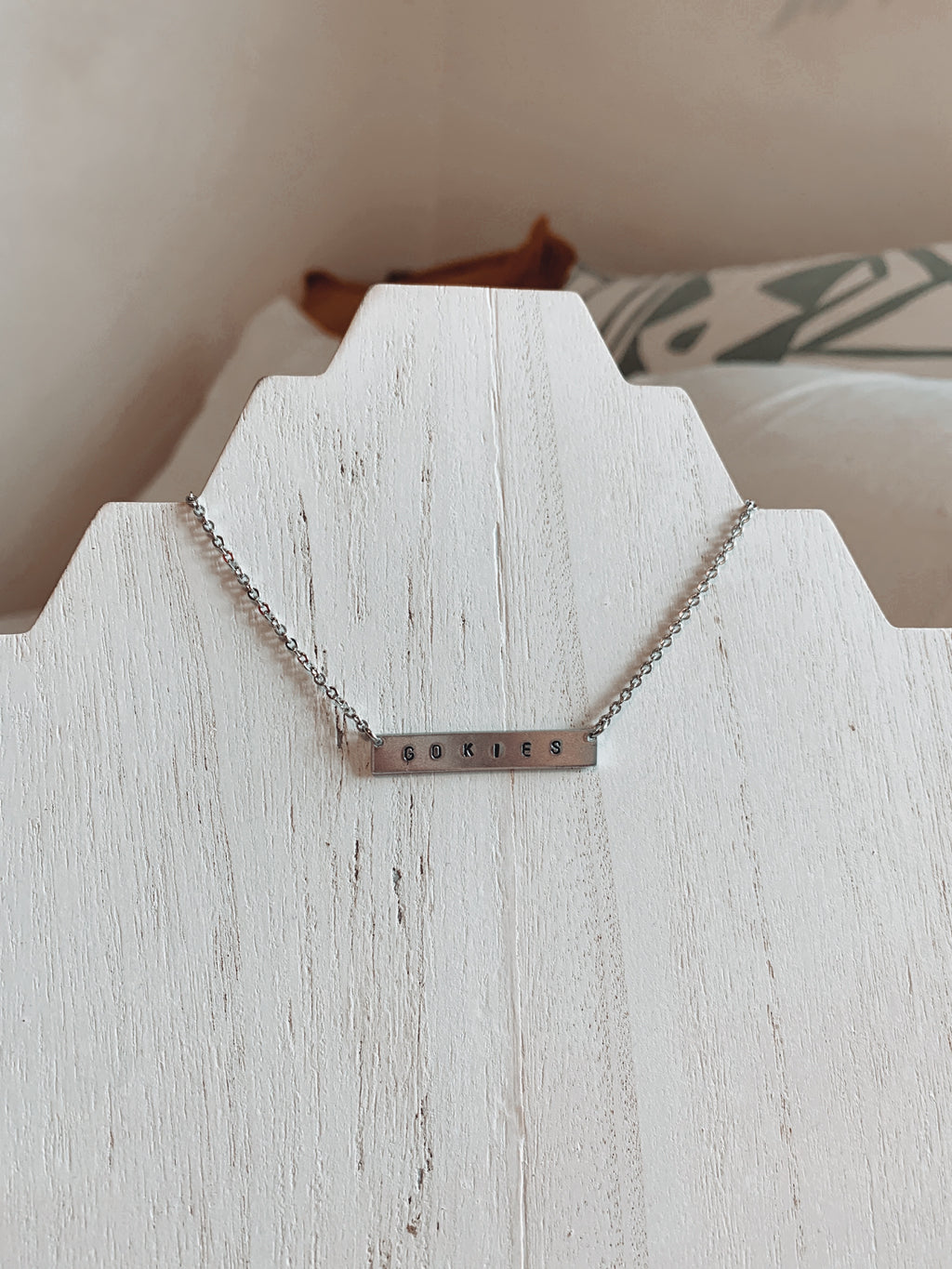 Stainless Steel Customized Bar Necklace - Talay Jewelry