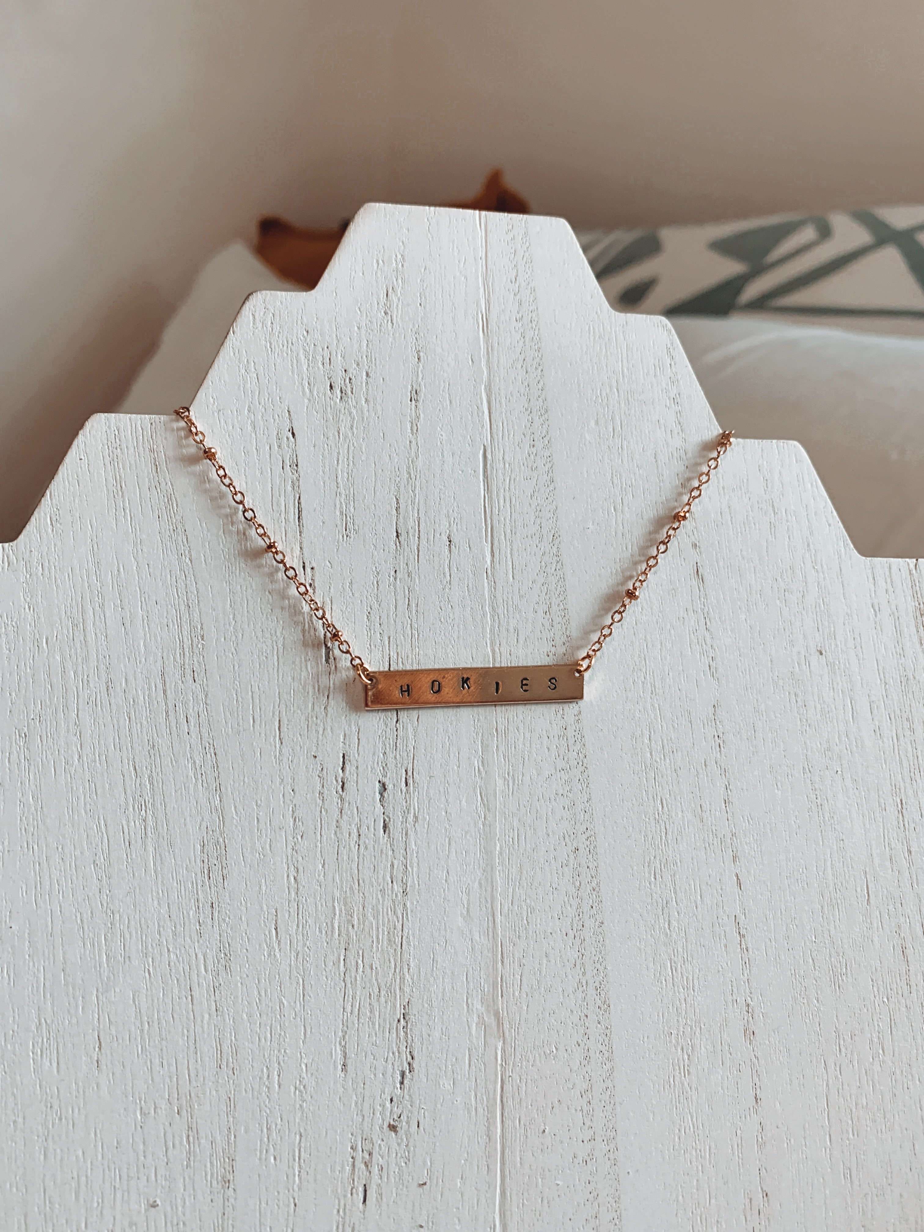 18k Gold-Coated Customized Bar Necklace - Talay Jewelry