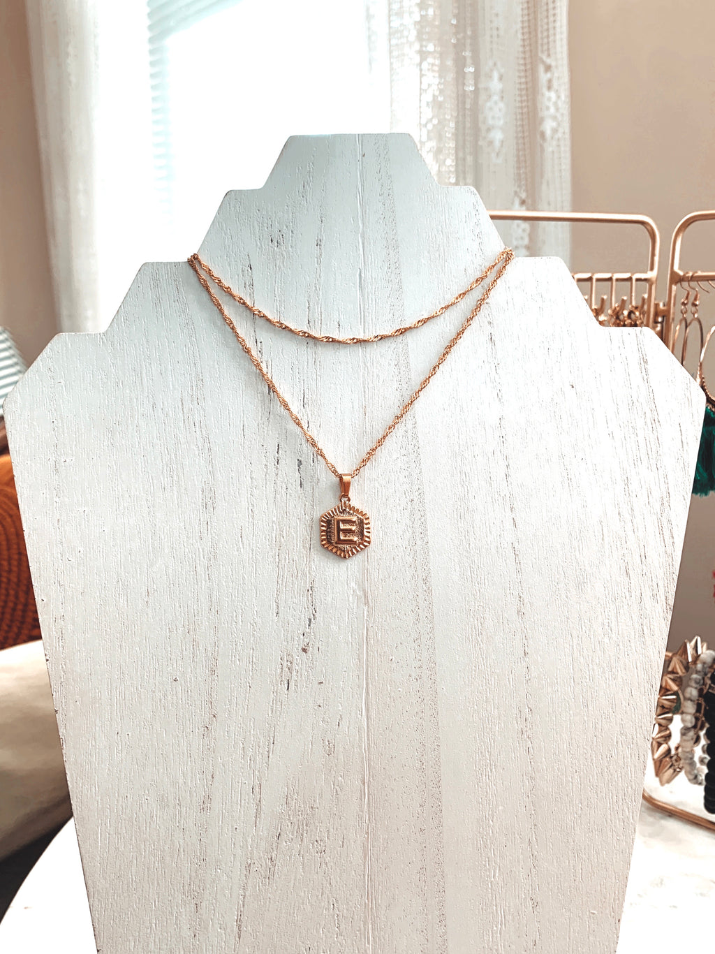 Double Wrap Initial Medallion Necklace - Talay Jewelry