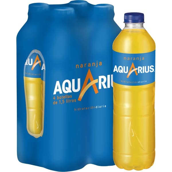 AQUARIUS Refresco de naranja ( 4 x 1.5L) - NOZAMA.GREEN