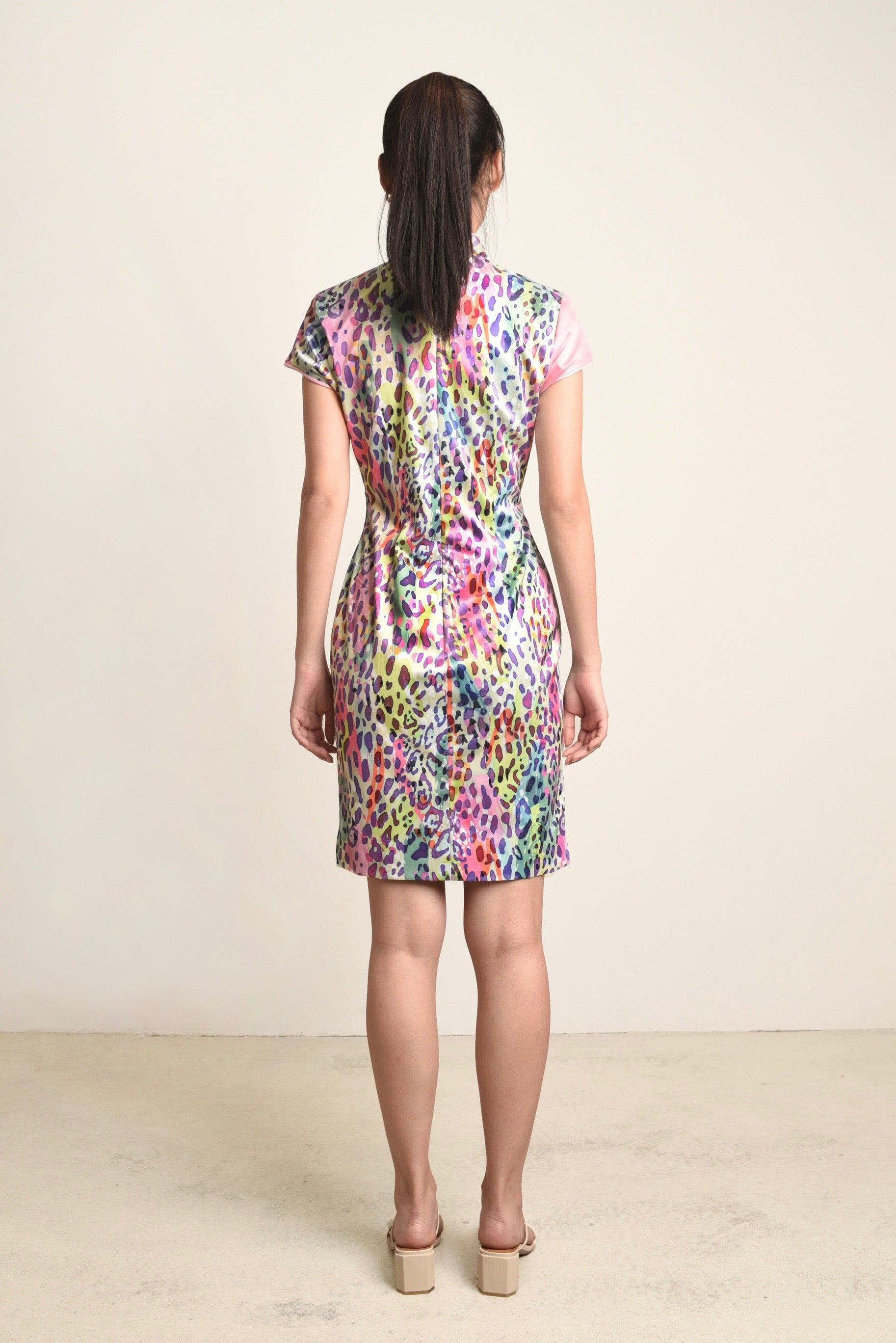 Sophie Contrast Leopard Cheongsam