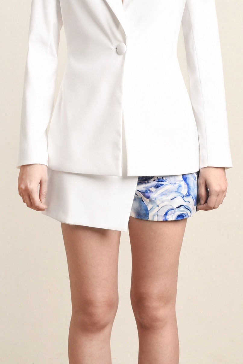 Claire Blue Rose Overlay Shorts