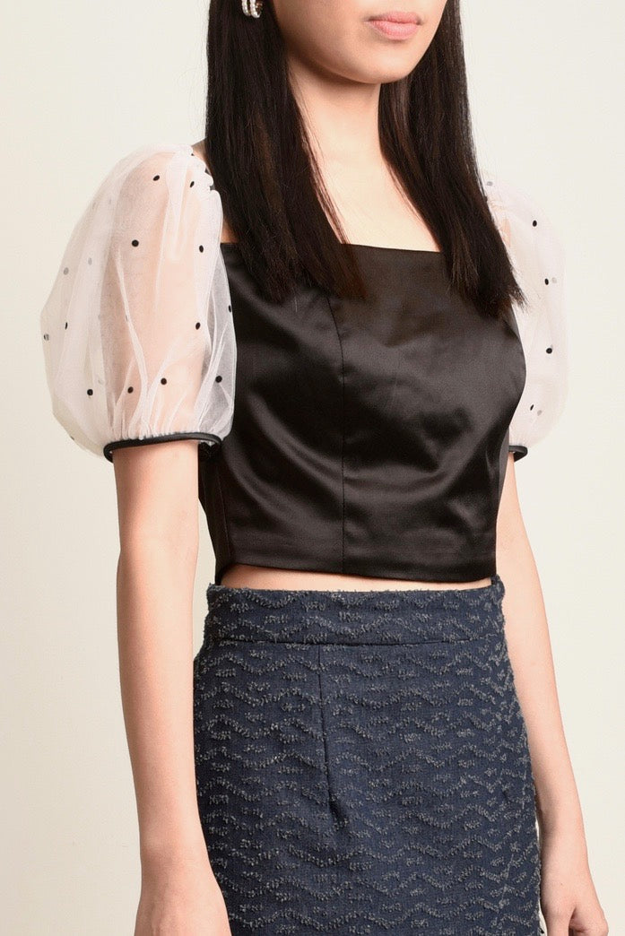 ( PRE-ORDER ) Ally Puff Sleeves Crop Top