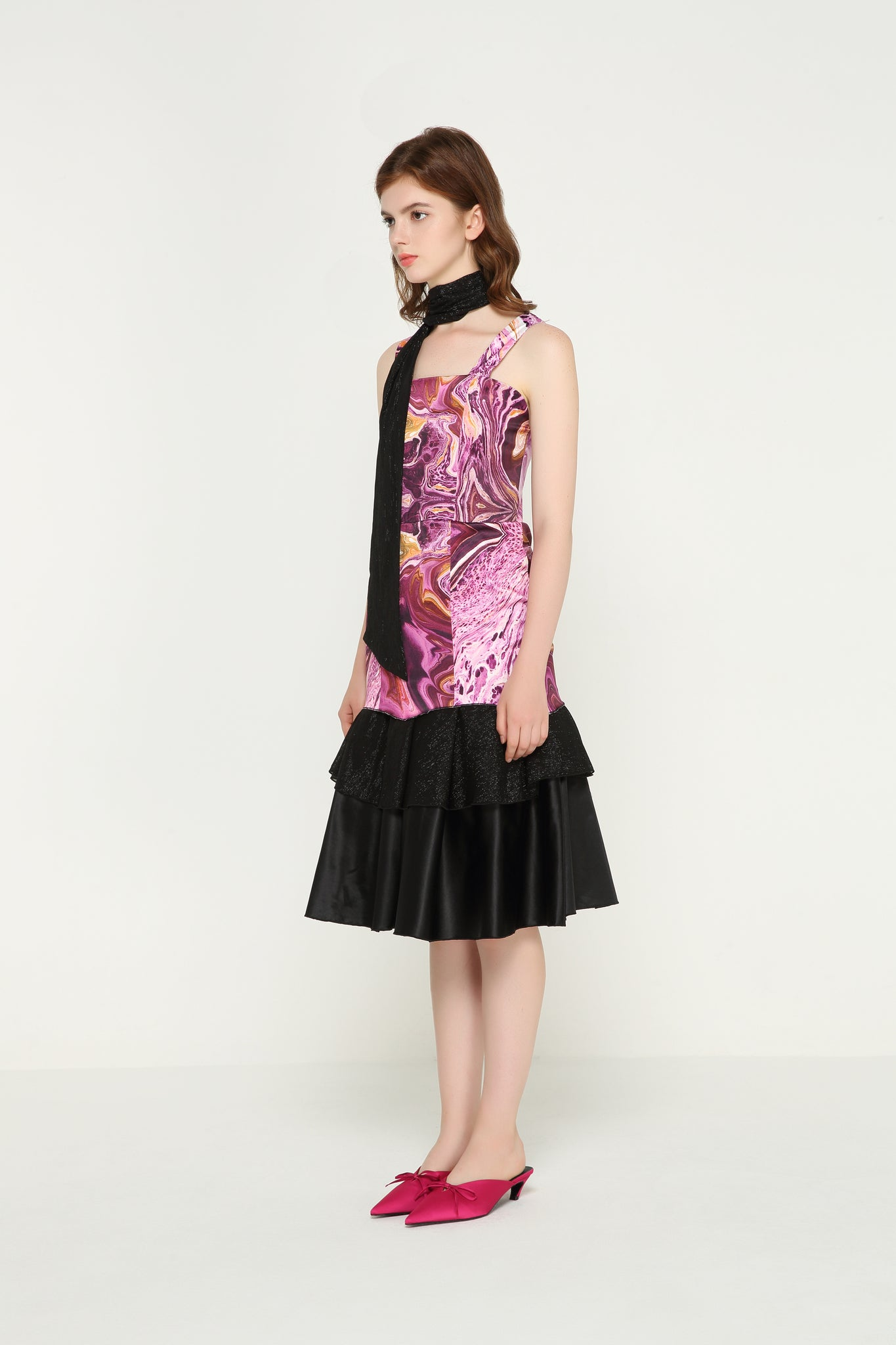 ISABELLE Satin Layered Dress