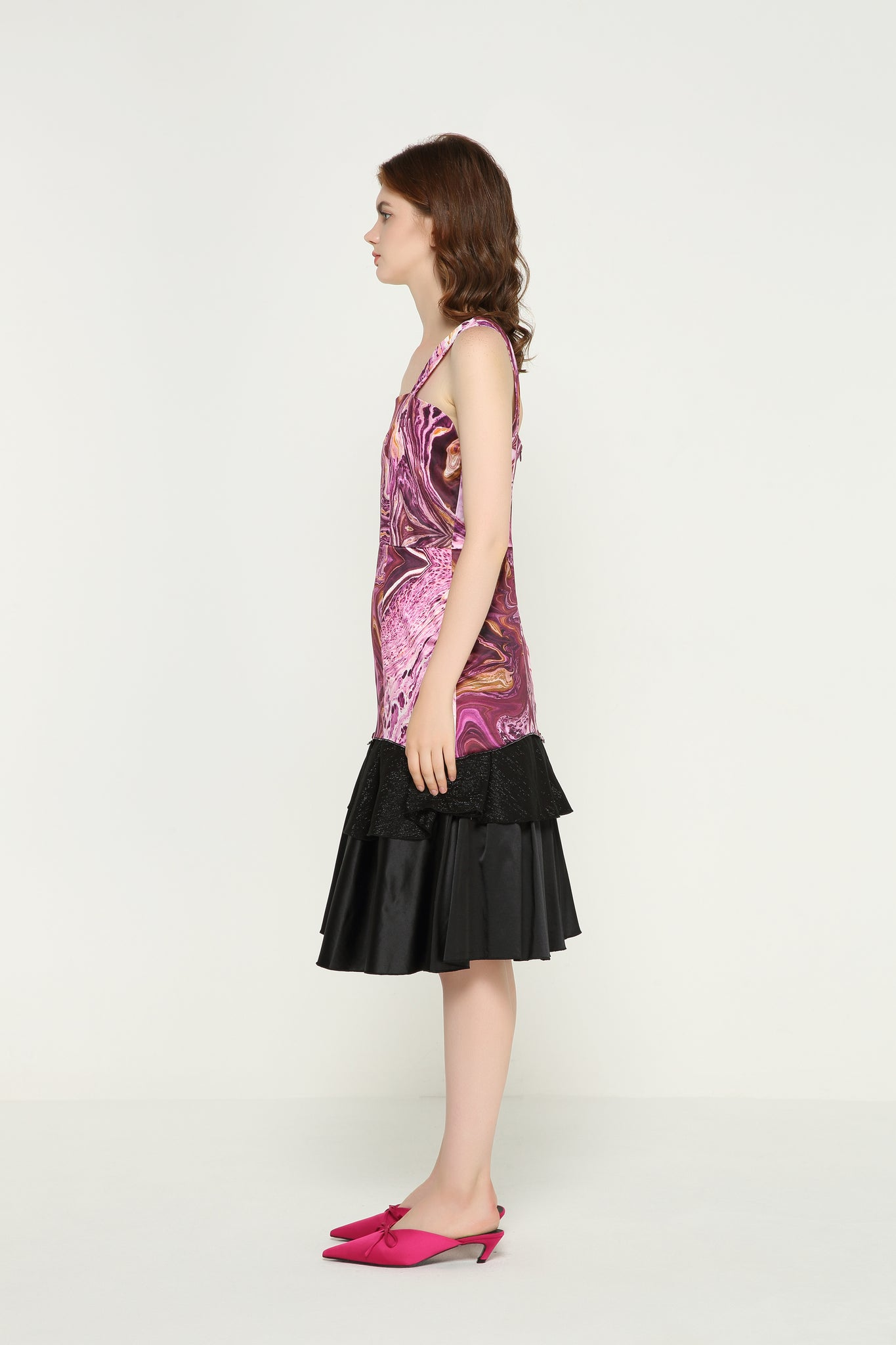 ISABELLE Am I Elegant Satin Layered Dress