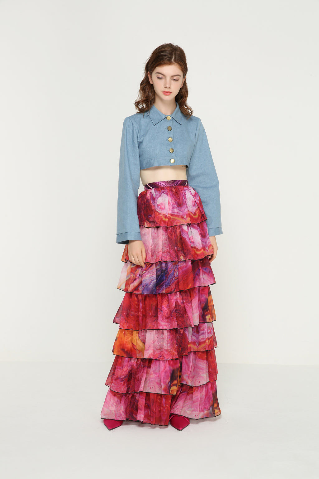 SARAH I Like You Chiffon Ruffles Skirt