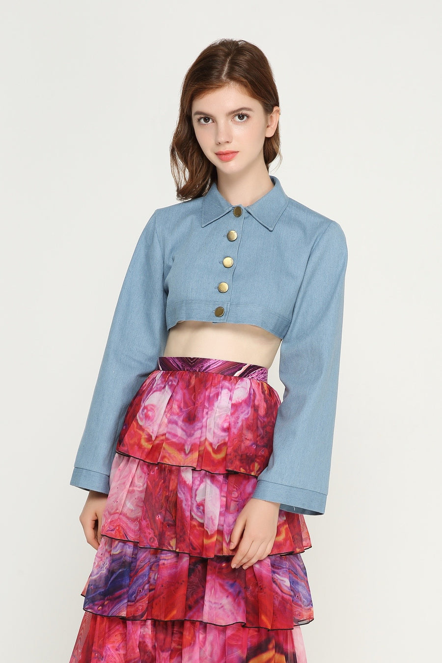 SARAH Denim Crop Top
