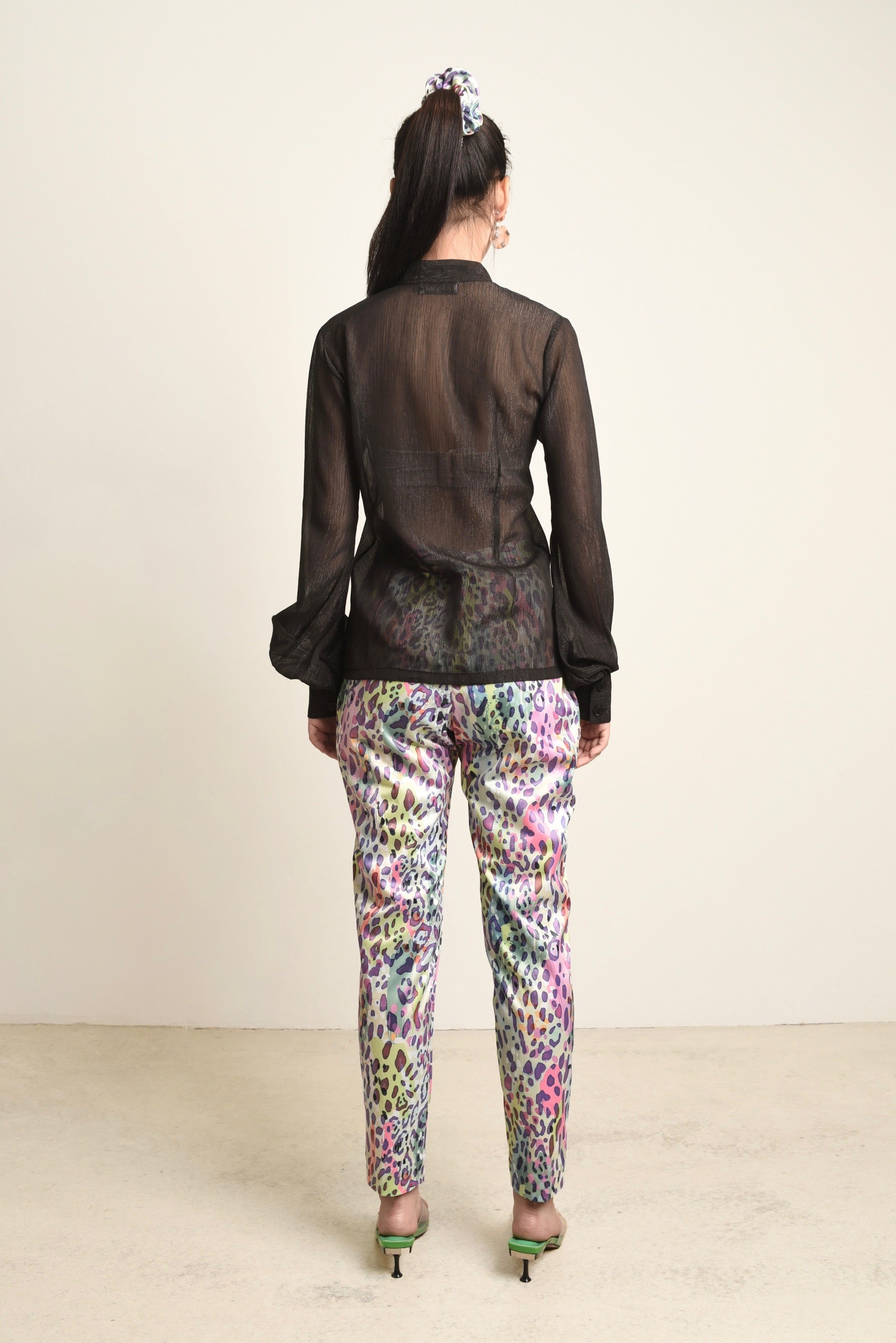 Claire Leopard Tapered Pants
