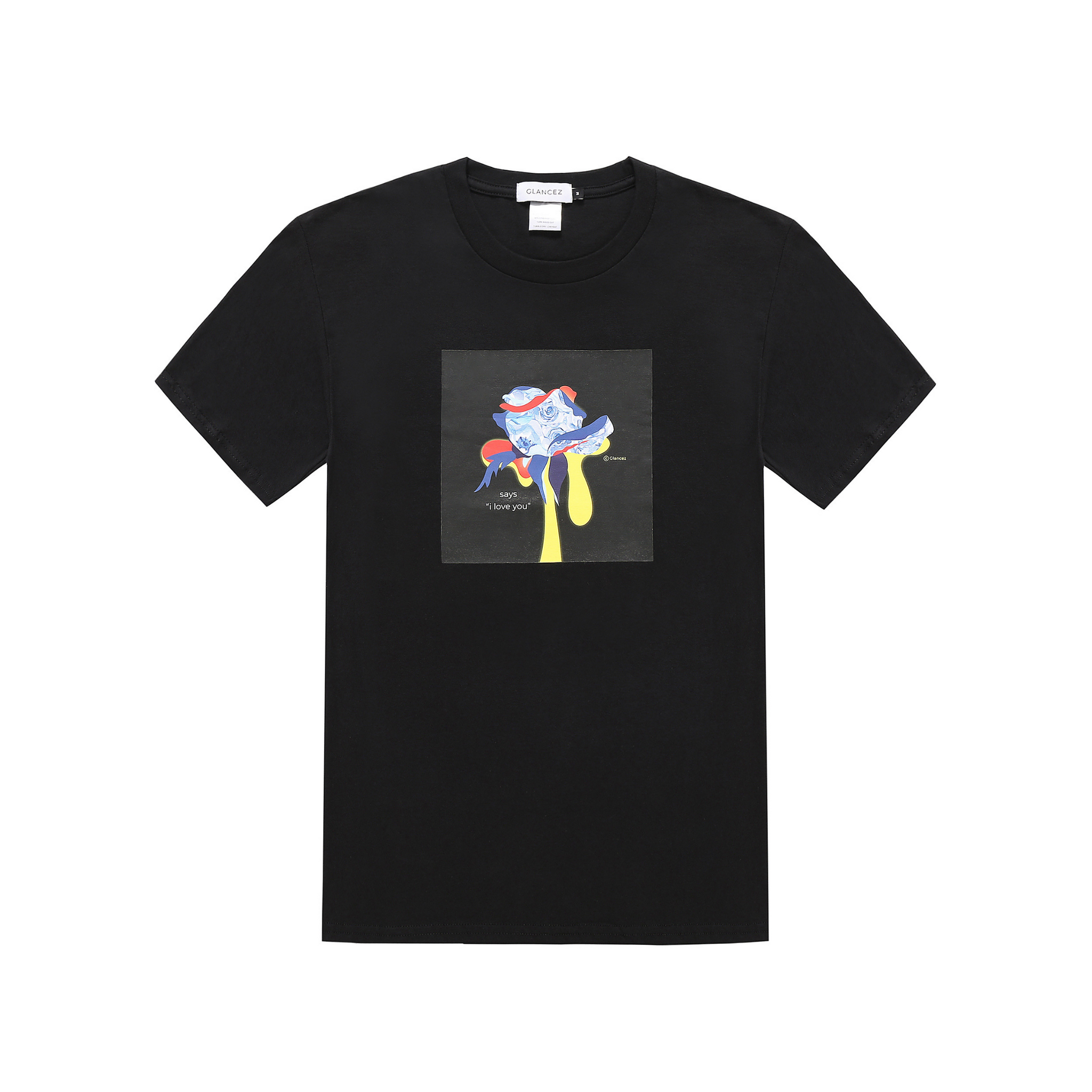 Original I Love You T-shirt In Black