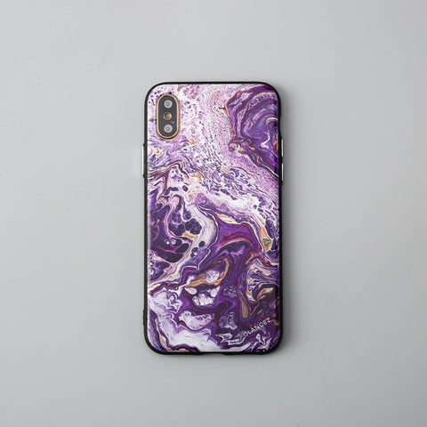 Original Purple Fluid Art iPhone Case