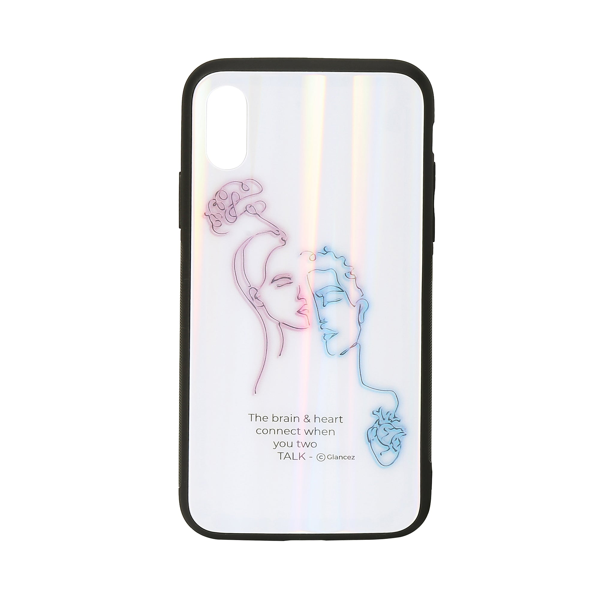 Original Brain And Heart Laser iPhone Case