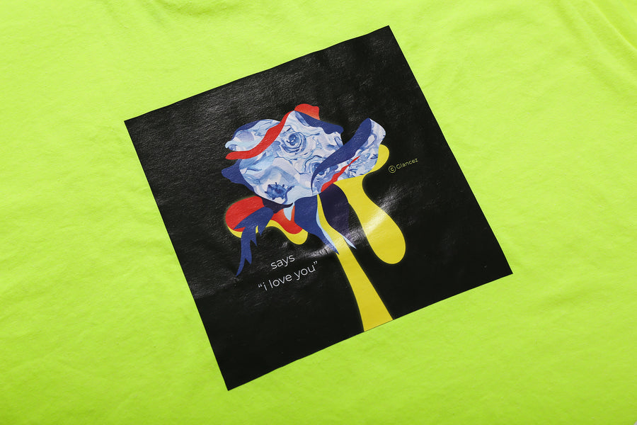 Original I Love You T-shirt In Neon Yellow