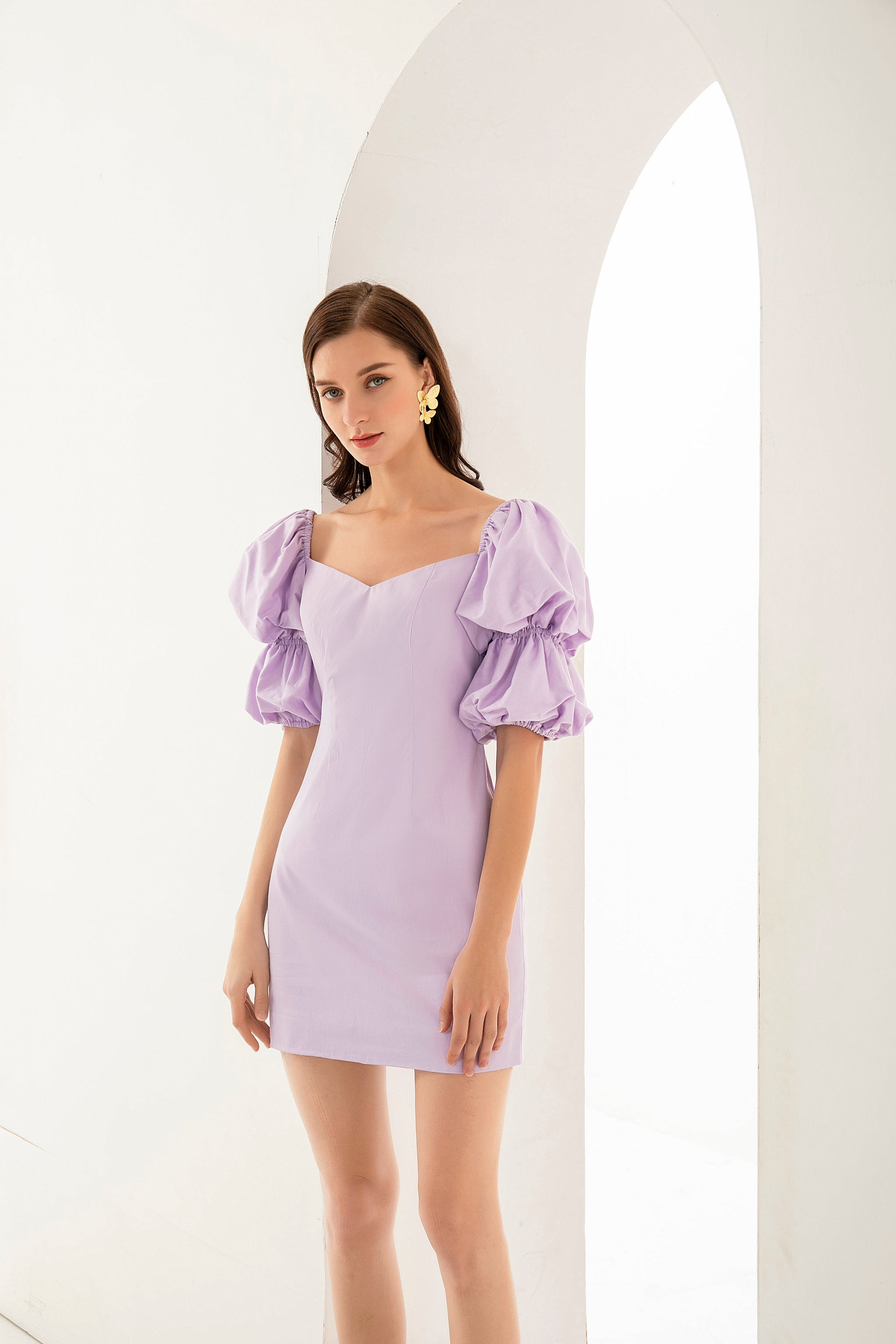 PRE-ORDER Audrey Dress In Lilac