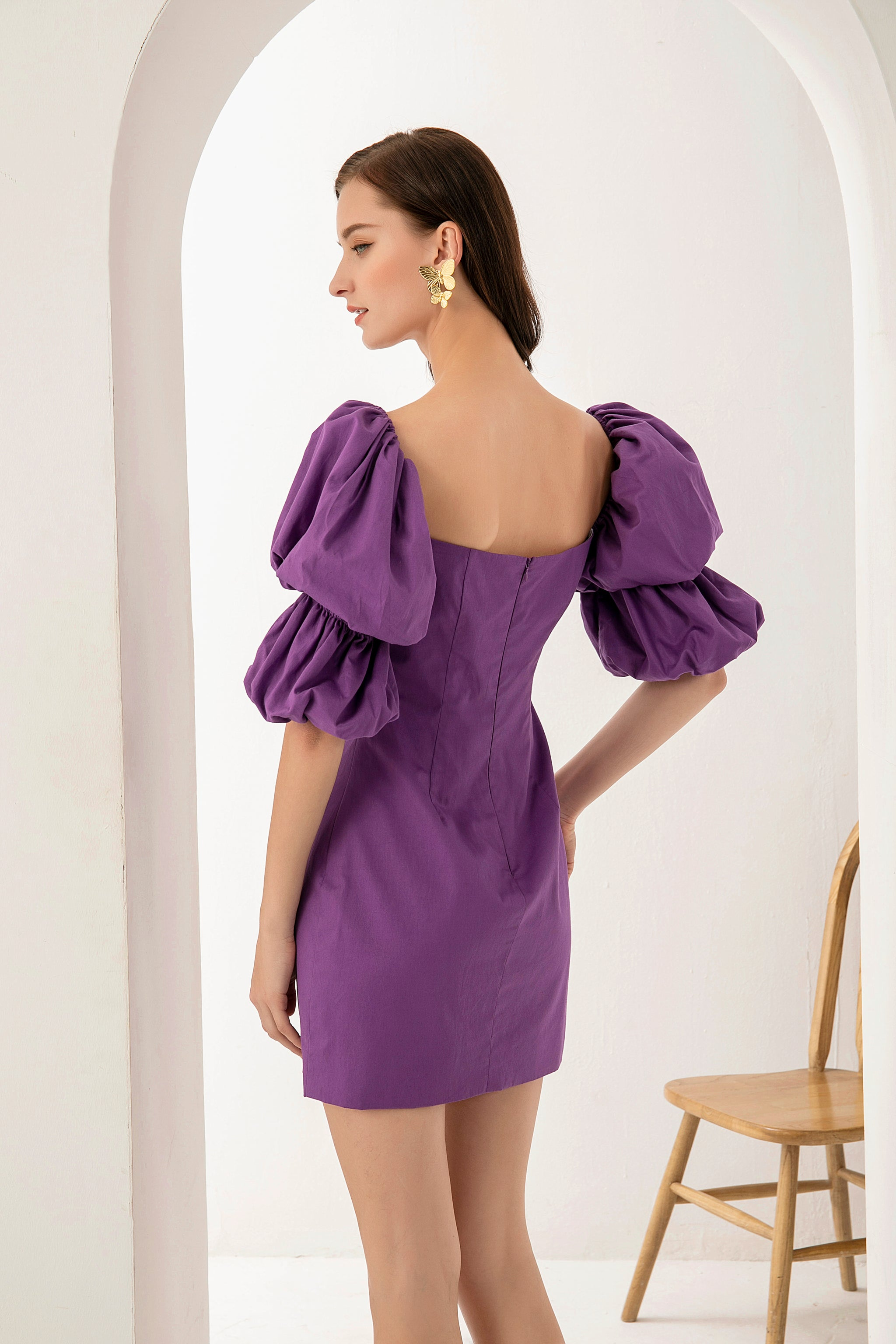 PRE-ORDER Audrey Dress In Violet