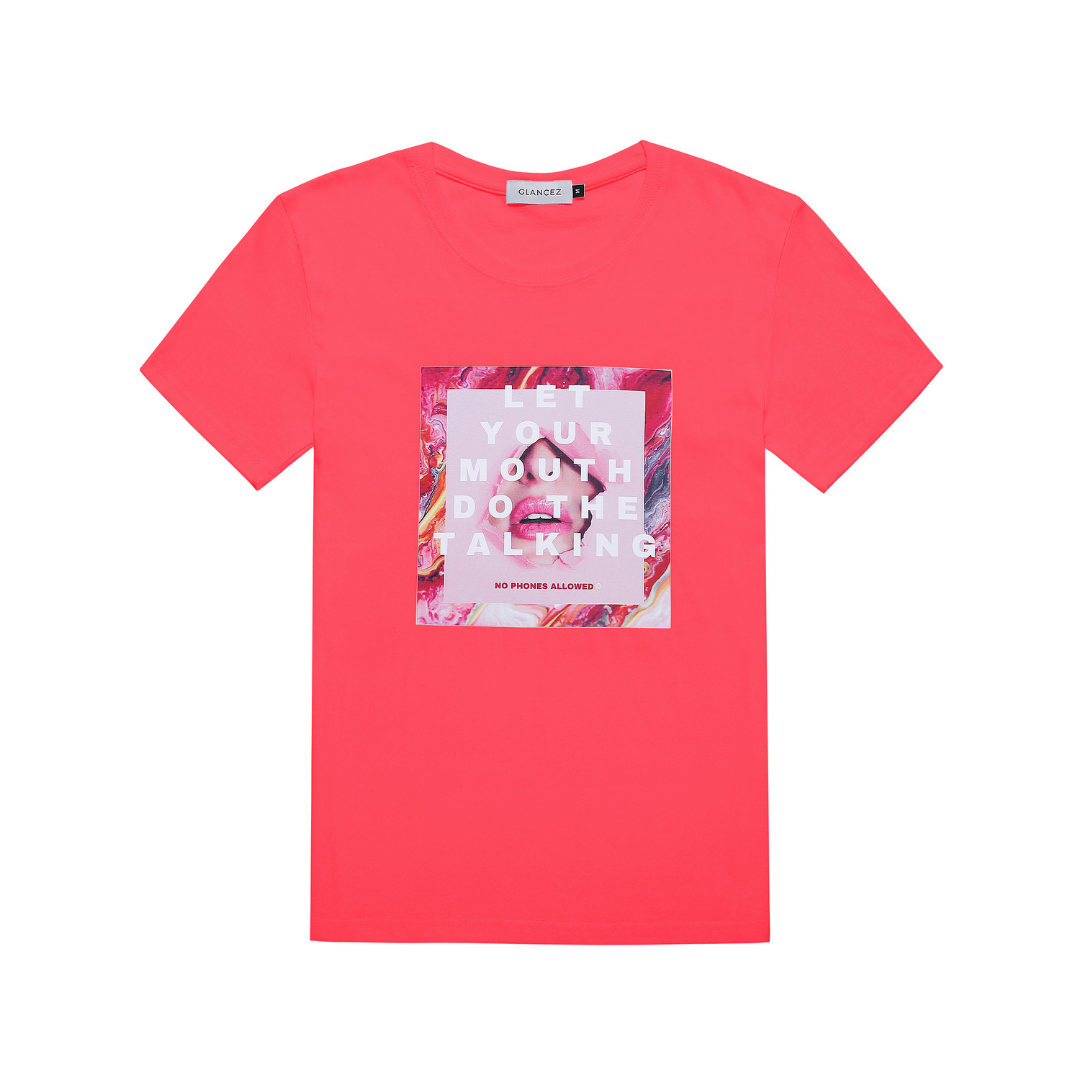 Original Do The Talking T-shirt In Pink