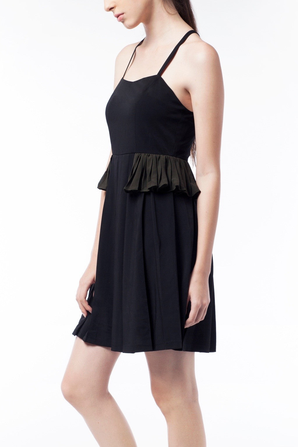Little Black Dress With Frill - GlanceZ   - 4