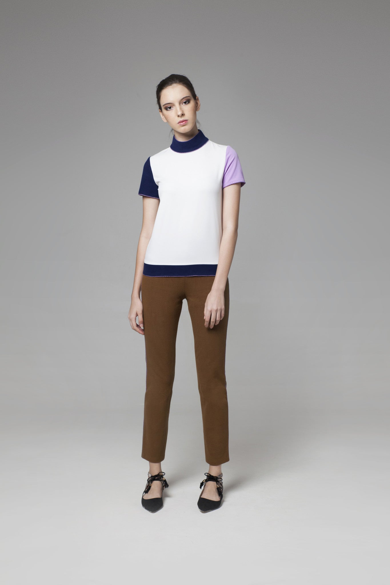 Triple Tone Color Block Top - GlanceZ   - 1