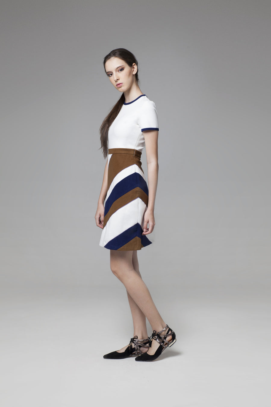 Diagonal Stripes Dress - GlanceZ   - 1