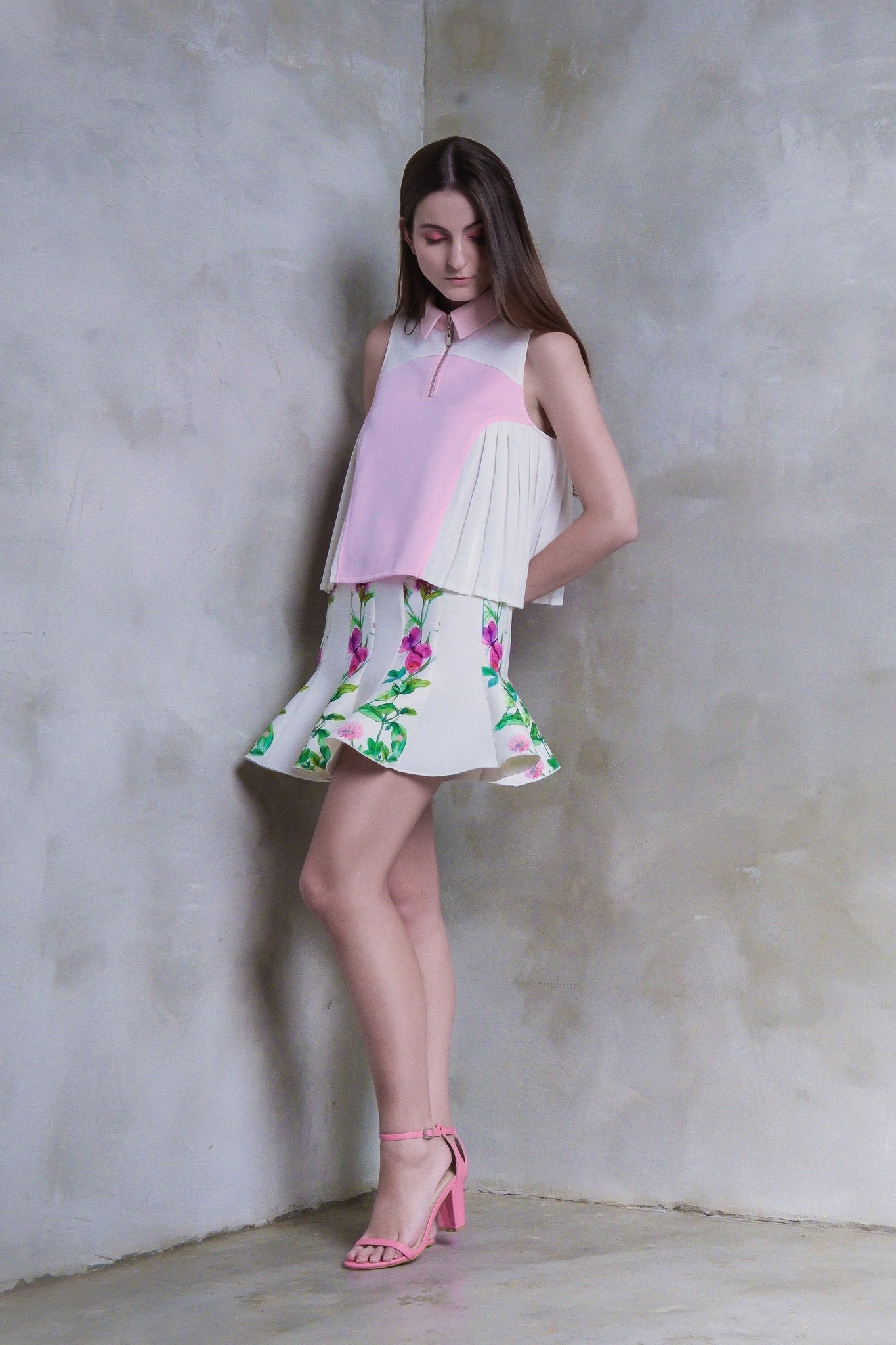 Butterflies And Meadow Herbs Flare Skirt - GlanceZ   - 3