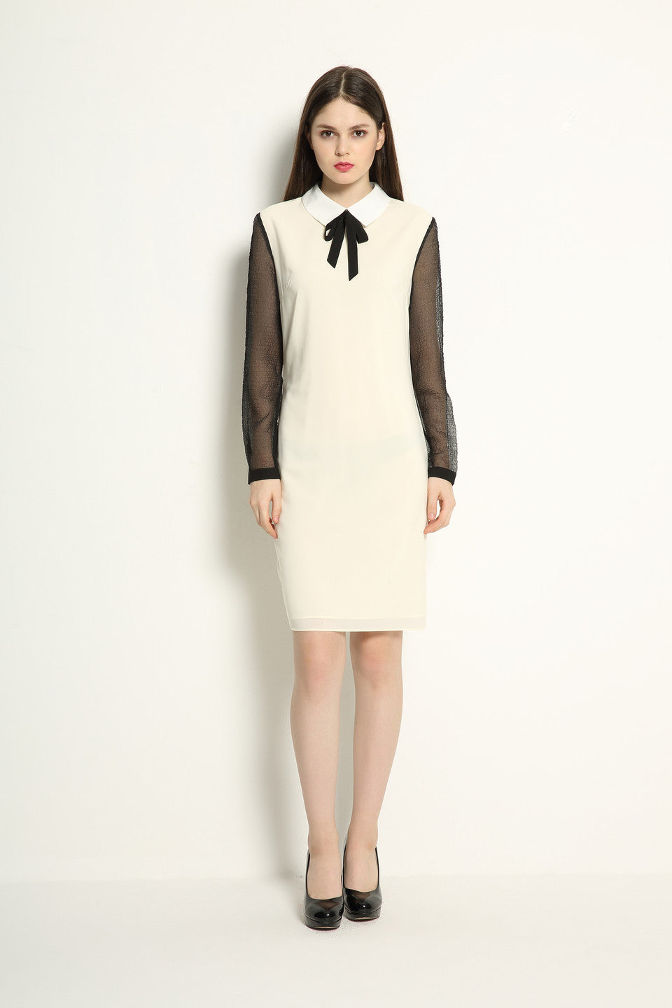 Japanese Organza Neck Tie Dress - GlanceZ   - 1