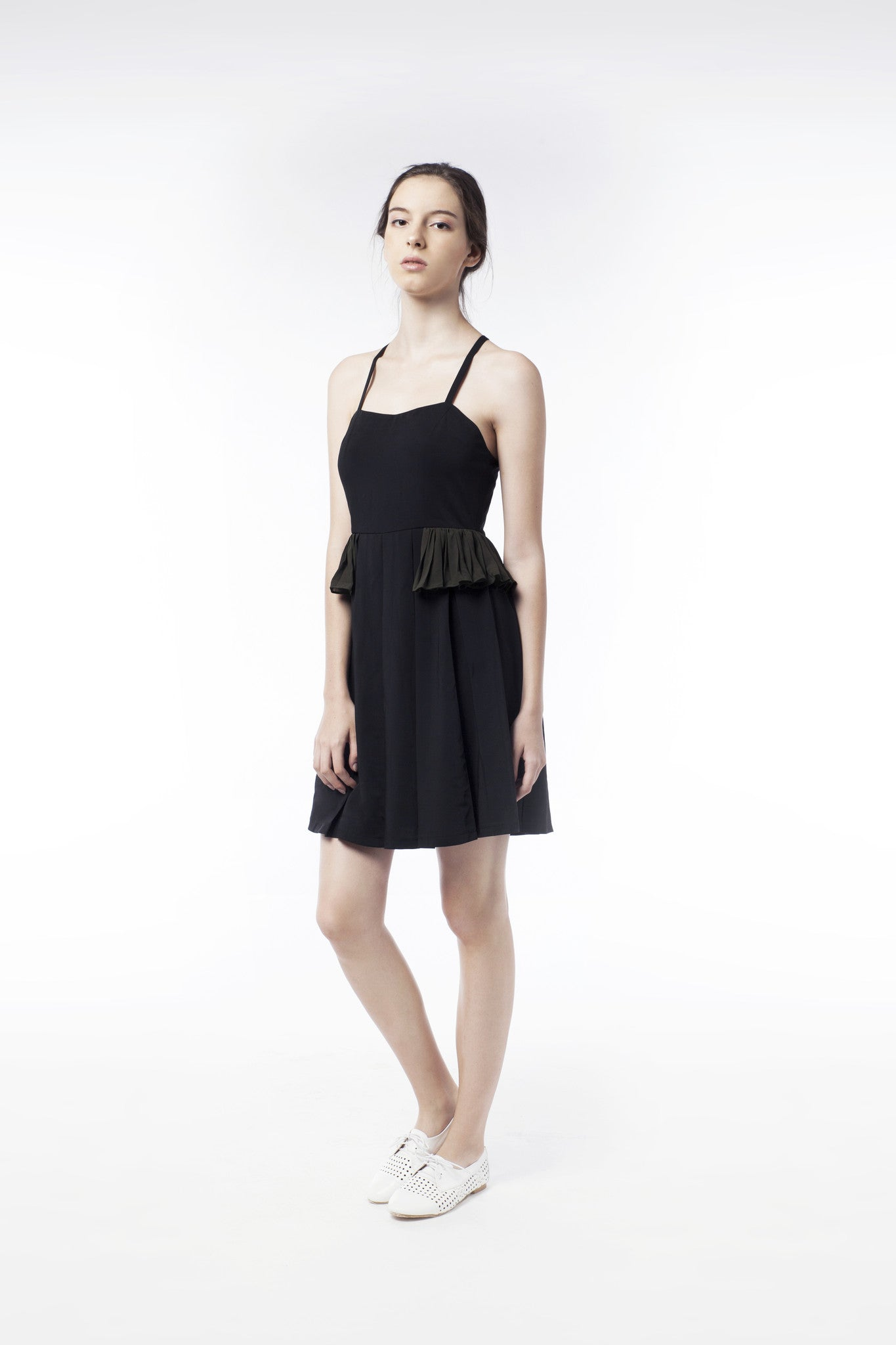 Little Black Dress With Frill - GlanceZ   - 1