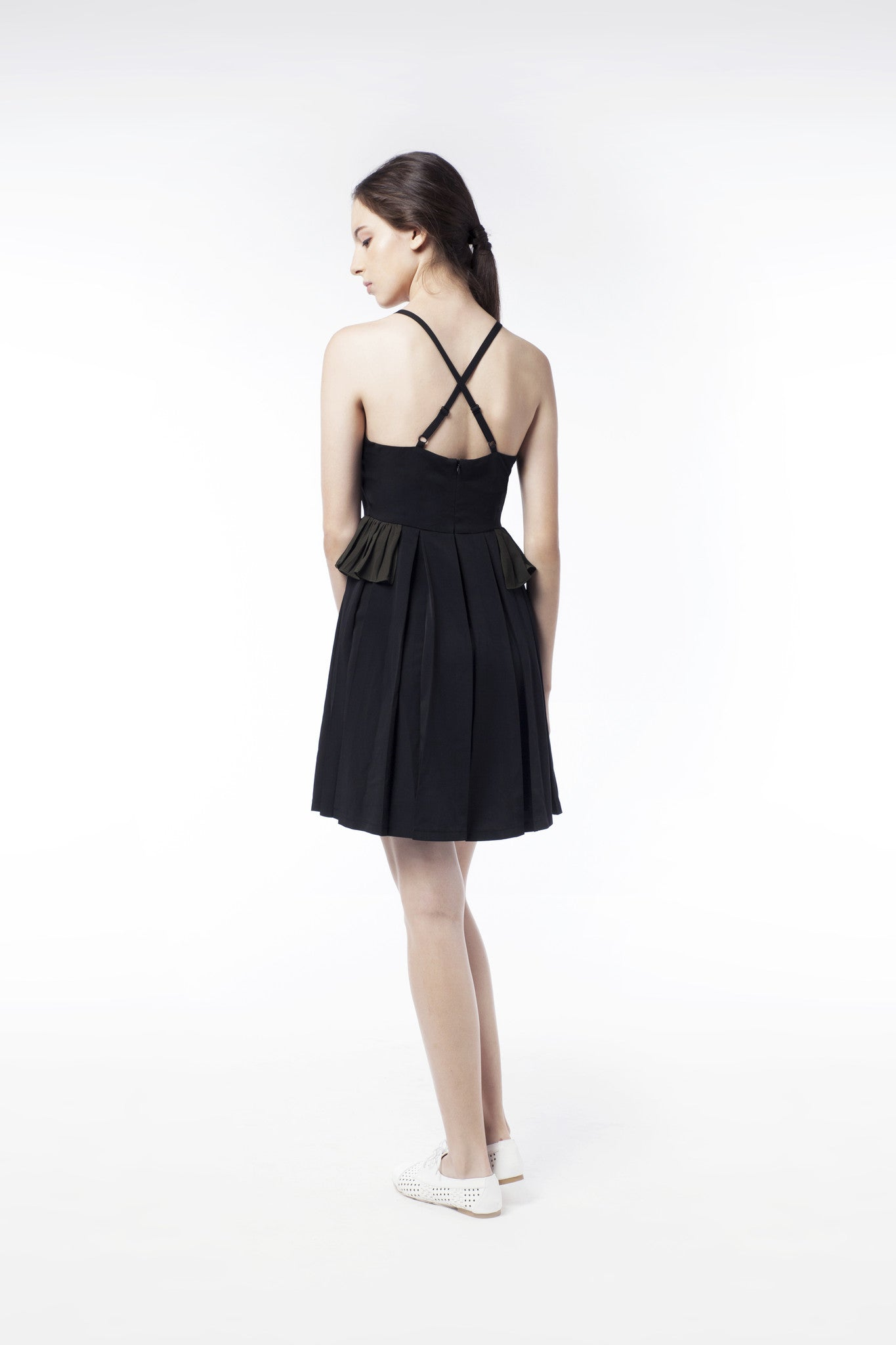Little Black Dress With Frill - GlanceZ   - 3