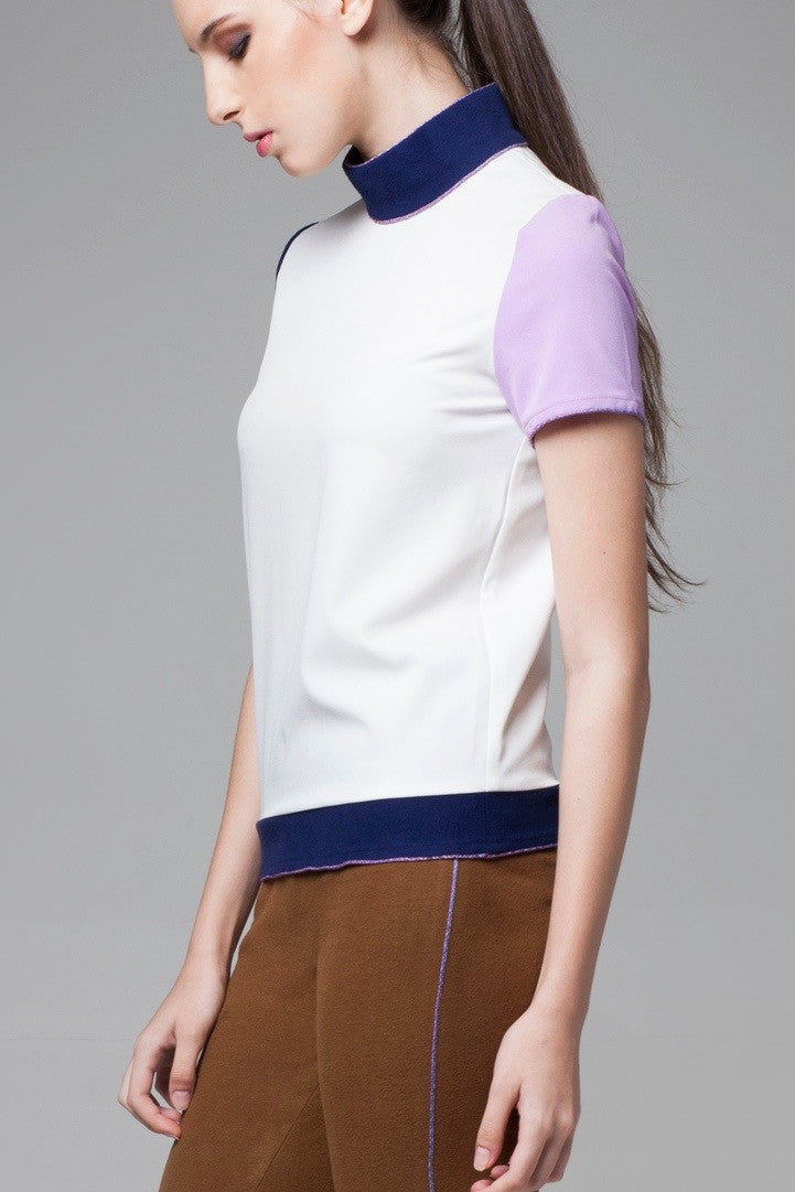 Triple Tone Color Block Top - GlanceZ   - 4