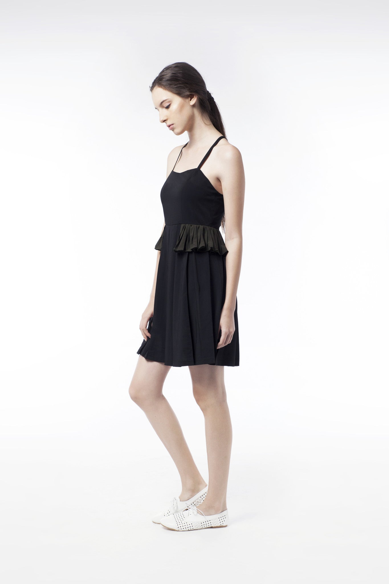 Little Black Dress With Frill - GlanceZ   - 2