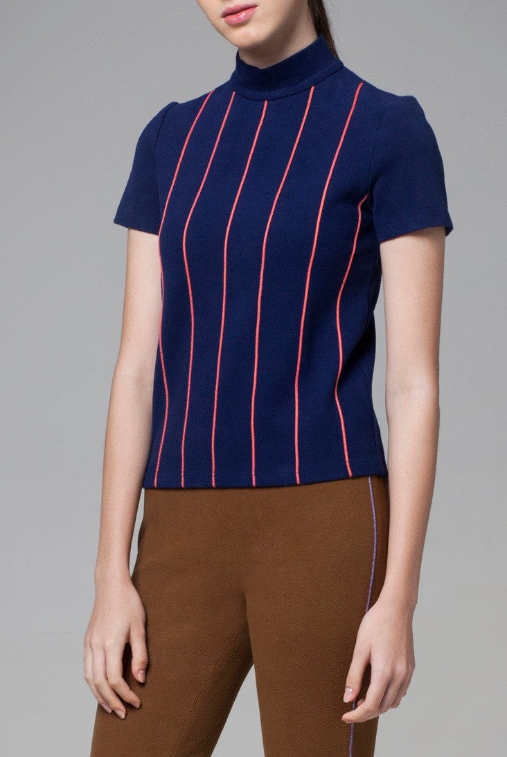 Navy Stripes Top - GlanceZ   - 4