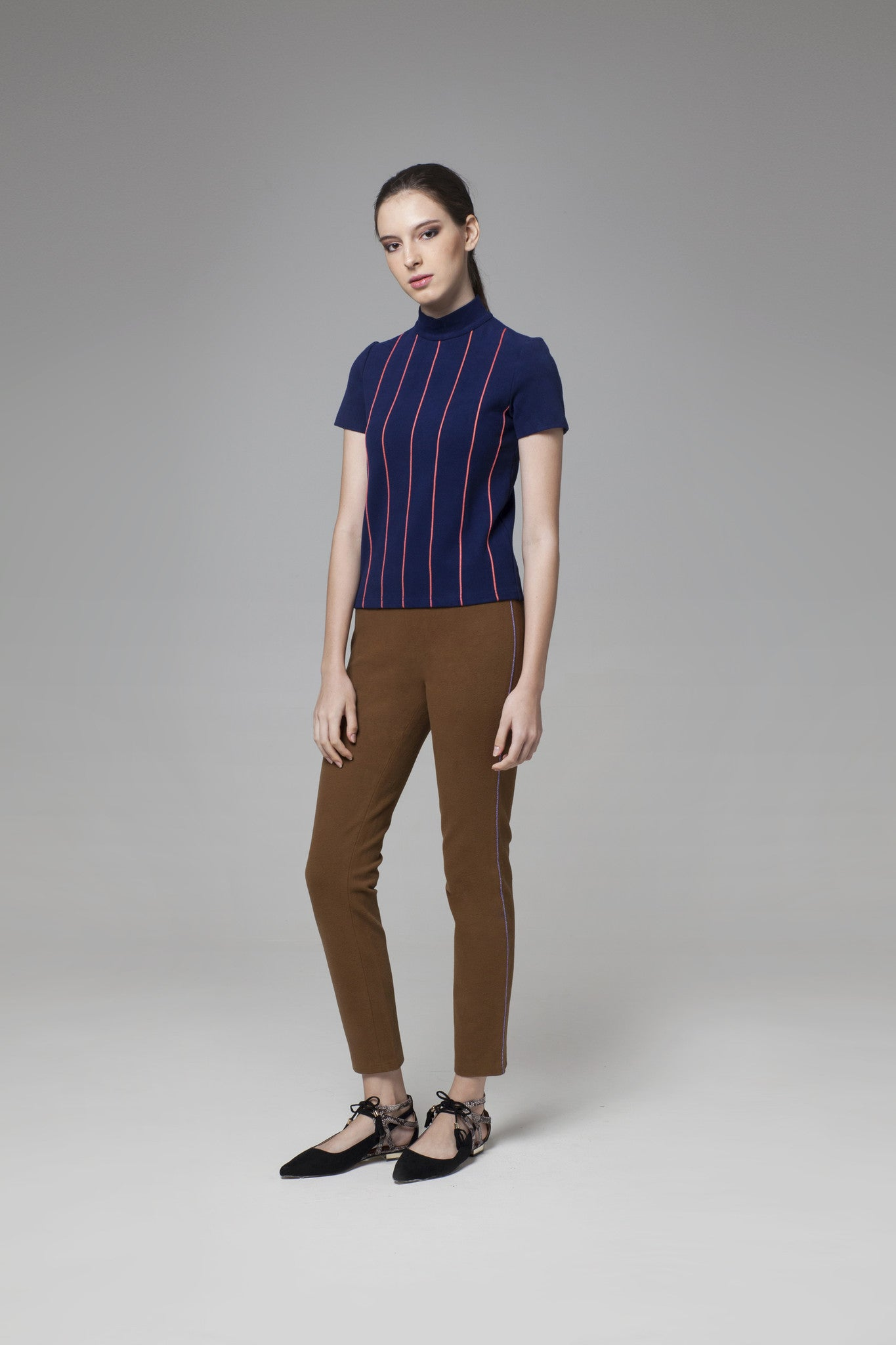 Navy Stripes Top - GlanceZ   - 1
