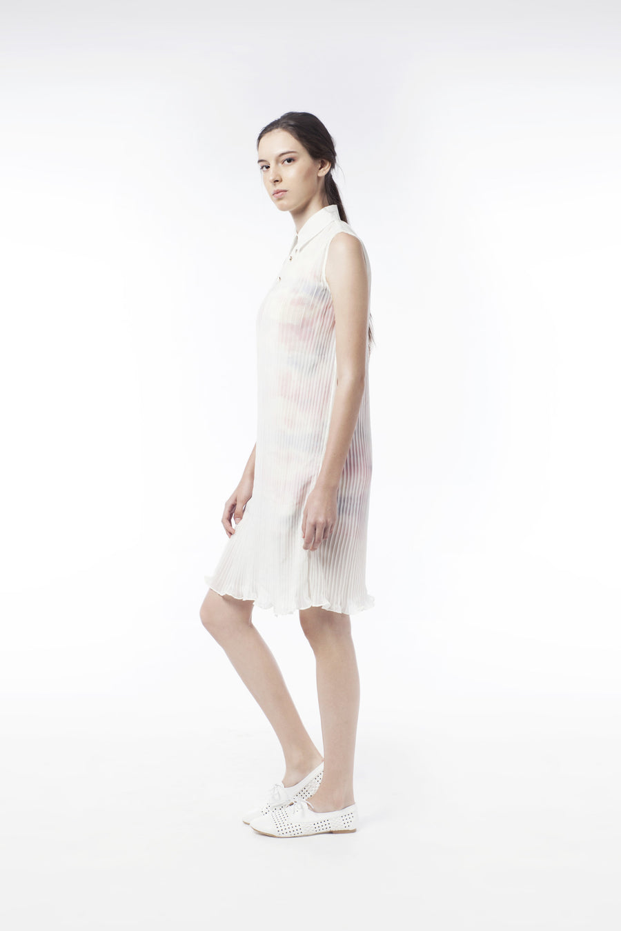2 In 1 Mysterious Sheer Pleat Dress - GlanceZ   - 1