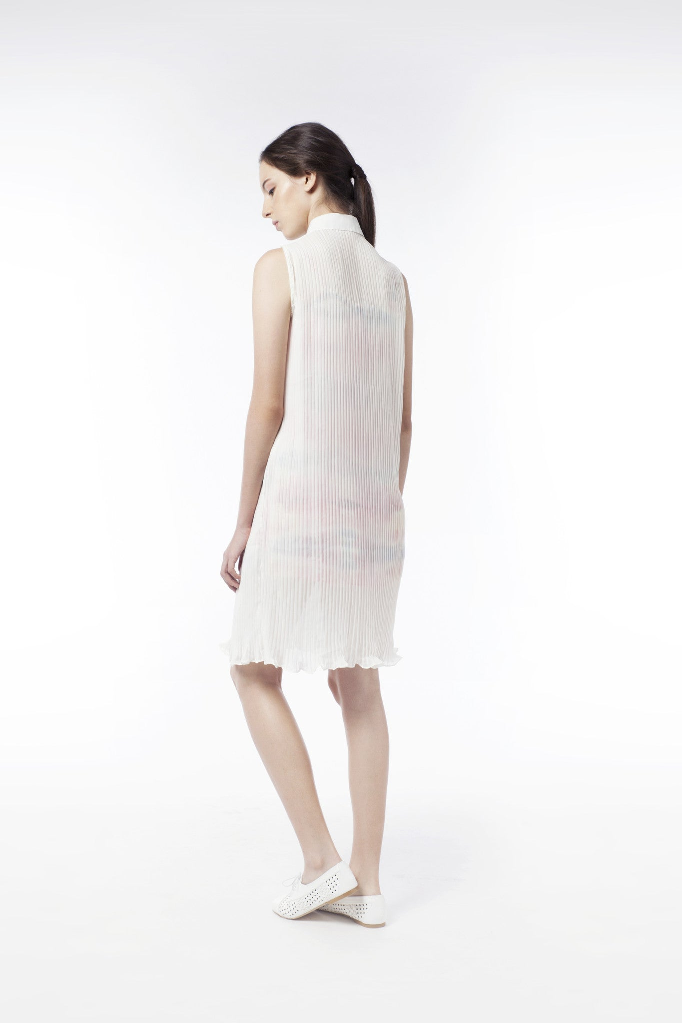 2 In 1 Mysterious Sheer Pleat Dress - GlanceZ   - 3