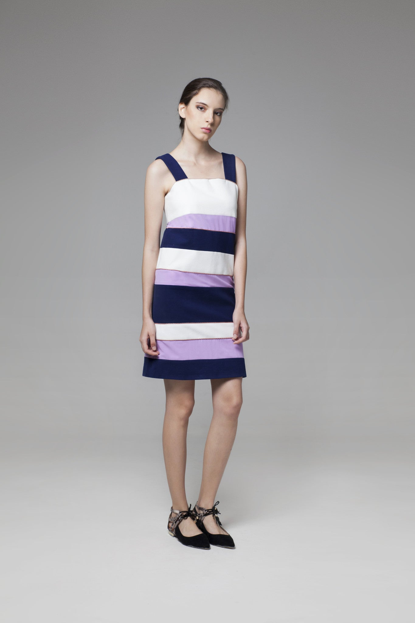 Color Block Dress - GlanceZ   - 1