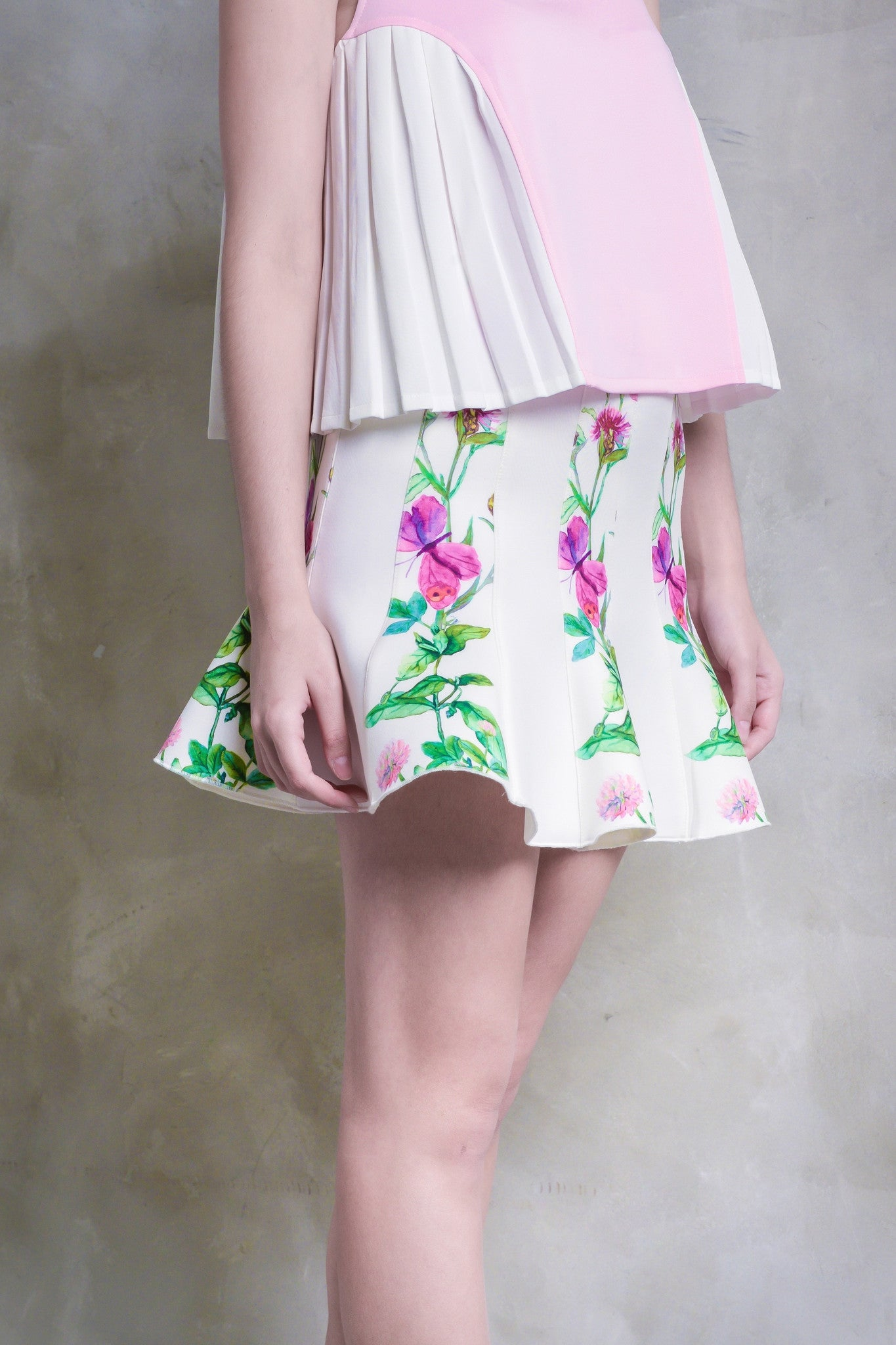 Butterflies And Meadow Herbs Flare Skirt - GlanceZ   - 4