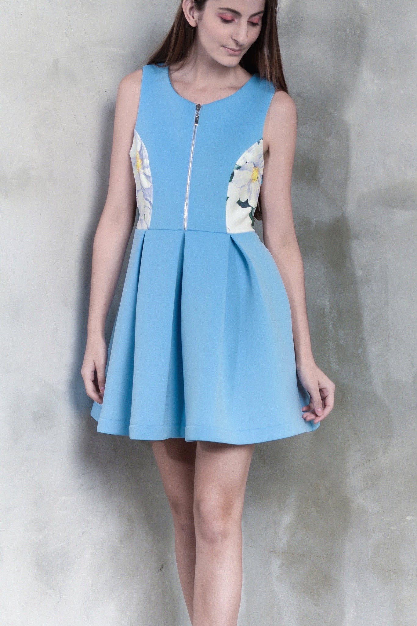 Peonies Flare Dress - GlanceZ   - 4