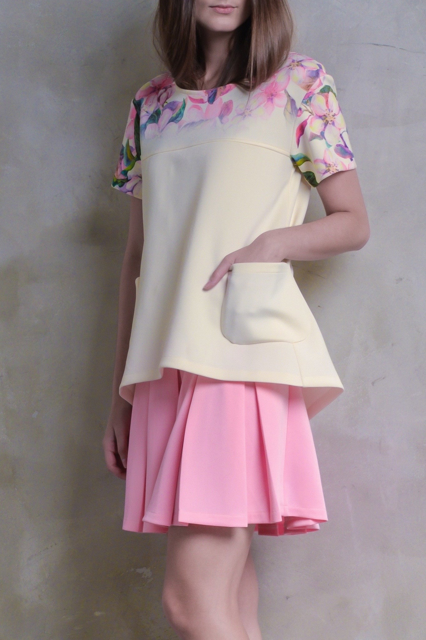 Sakura Pleat Dress With Pockets - GlanceZ   - 4