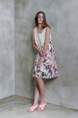 Sakura Pleat Dress - GlanceZ   - 1