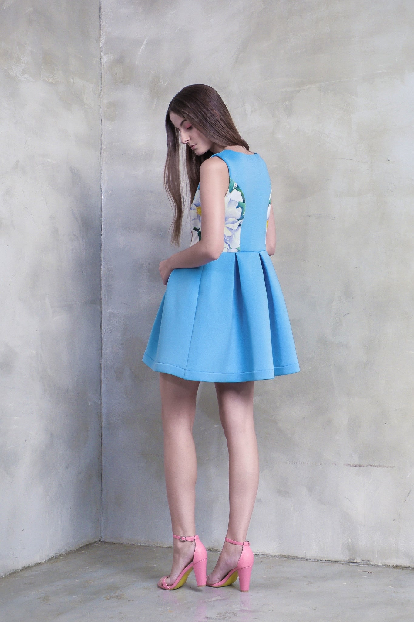 Peonies Flare Dress - GlanceZ   - 3