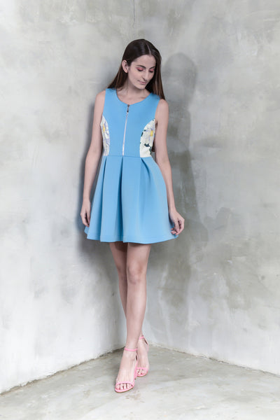 Peonies Flare Dress - GlanceZ   - 1