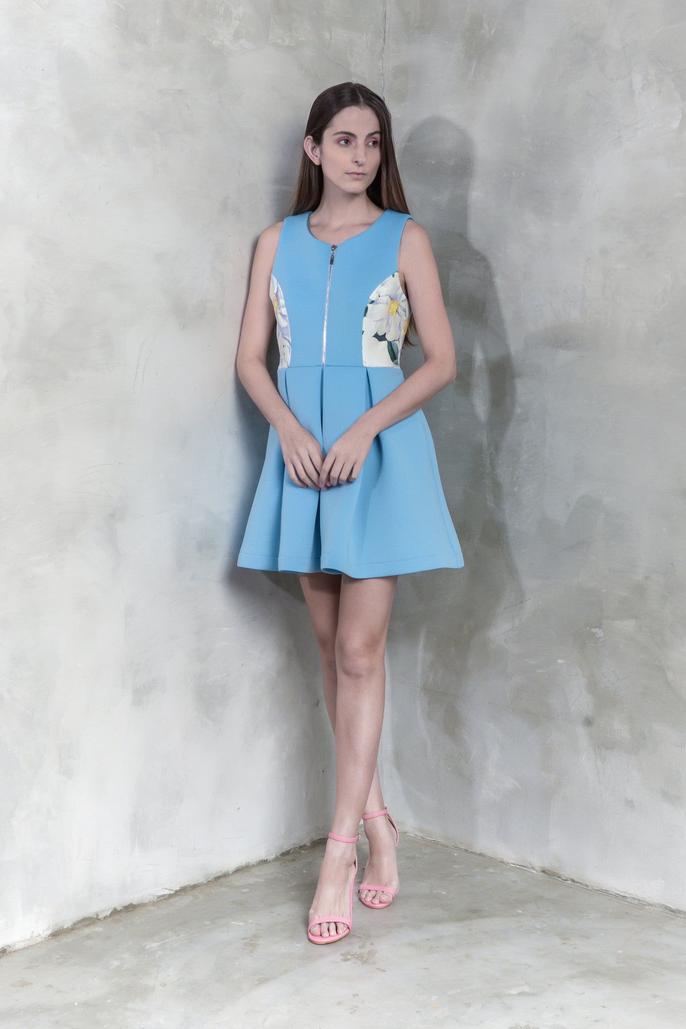 Peonies Flare Dress - GlanceZ   - 2