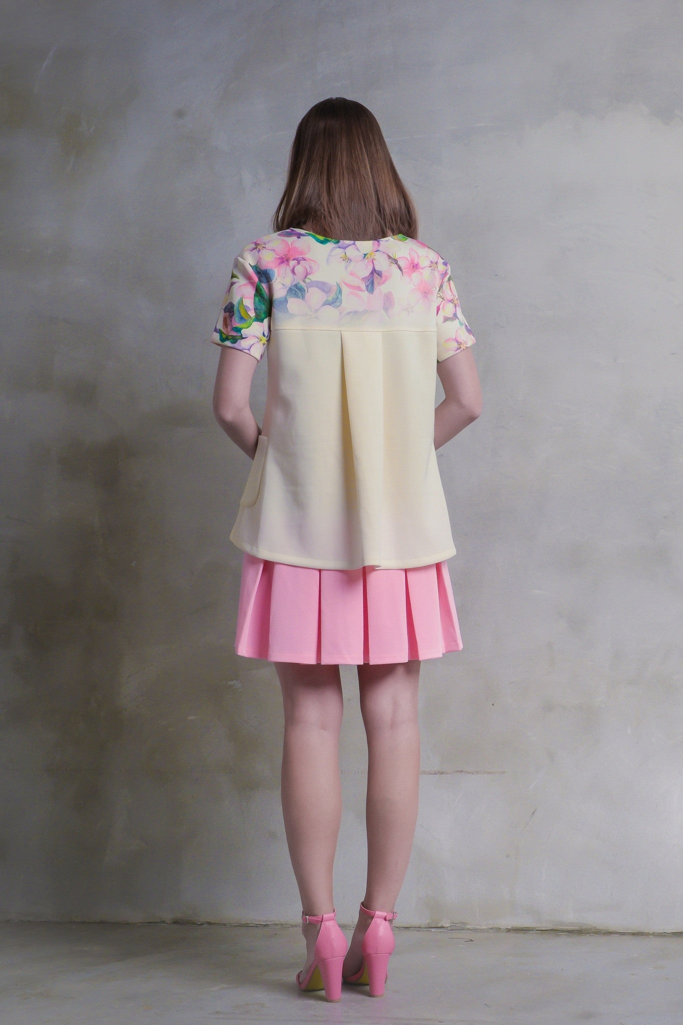 Sakura Pleat Dress With Pockets - GlanceZ   - 3