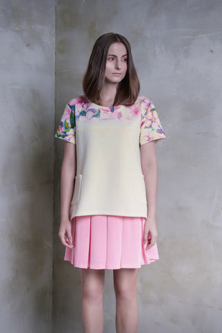 Sakura Pleat Dress With Pockets - GlanceZ   - 1
