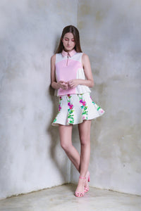 Butterflies And Meadow Herbs Flare Skirt - GlanceZ   - 1